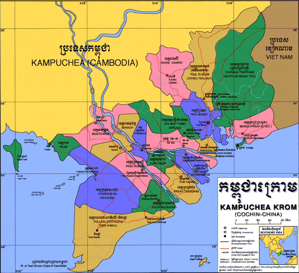 Kampuchea Krom map.